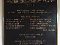 Water Treatment Plaque